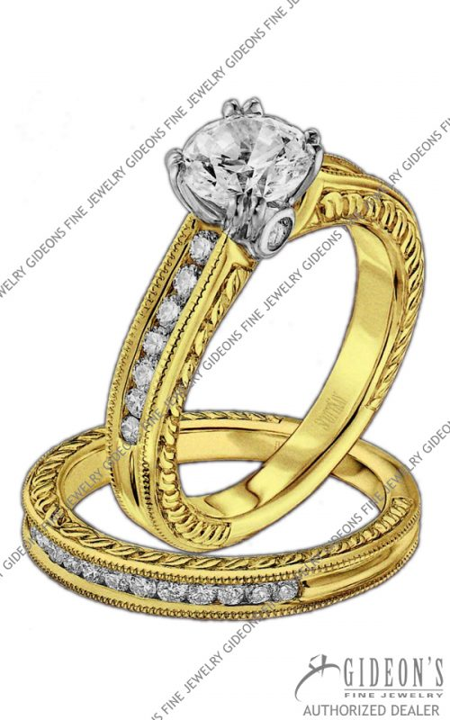 Scott Kay Gold Engagement Set (M1158RD10FP & B1158RD10FF)