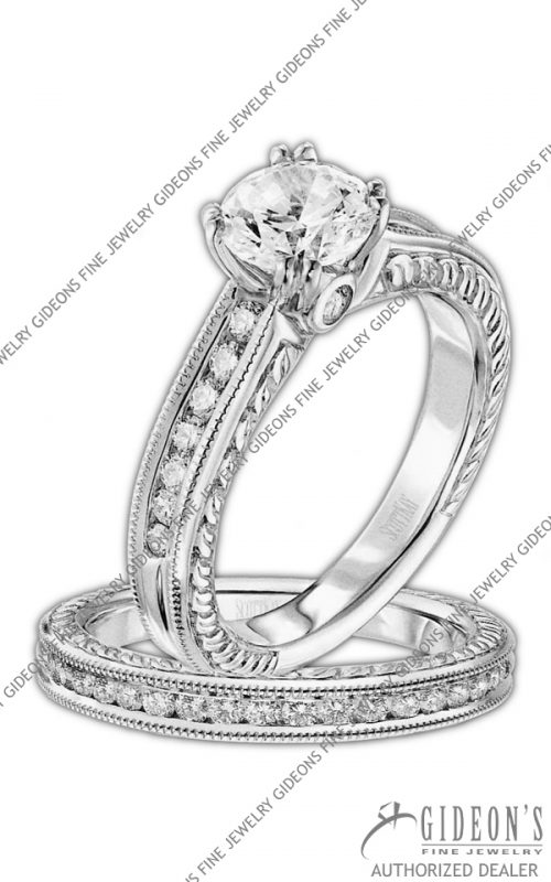 Scott Kay Platinum Engagement Set(M1158RD10PP & B1158RD10PP)