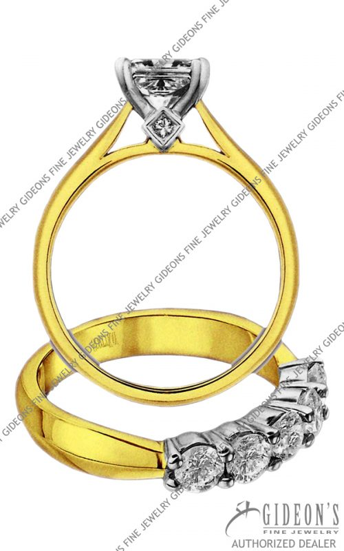 Scott Kay Gold Engagement Set (M1173QD10PP & B1173RD10FP)