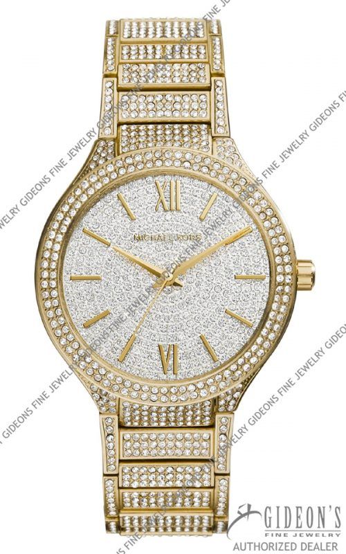 Michael Kors Golden Stainless Steel Kerry Glitz Watch MK3360