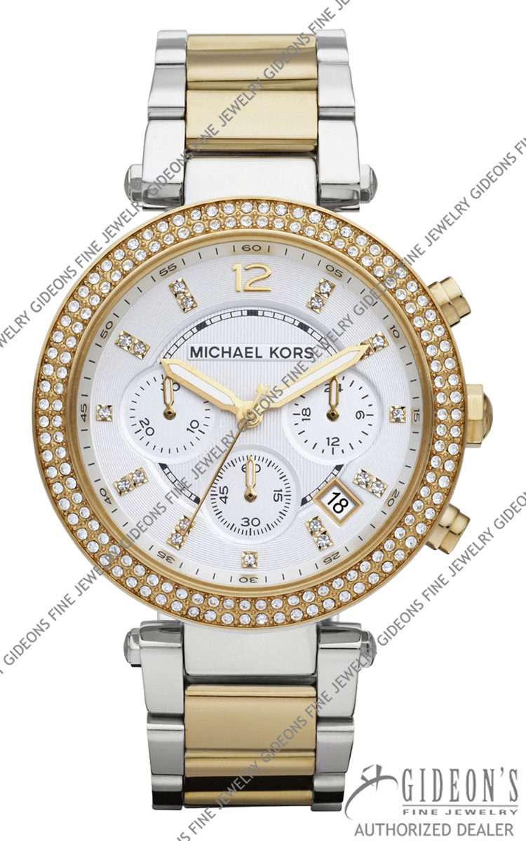 Michael Kors Two-Tone Parker Glitz Quartz Chronograph Watch MK5626