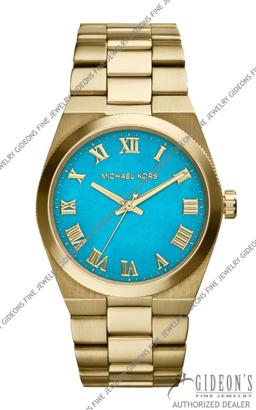 Michael Kors Mid-Size Channing Golden Stainless Steel Three-Hand MK5894 Watch