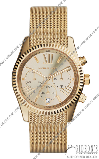 Michael Kors Lexington Gold Tone Quartz Chronograph Watch MK5938
