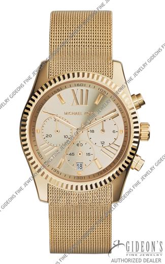 Michael Kors Lexington Gold Tone Quartz Chronograph Watch MK5938