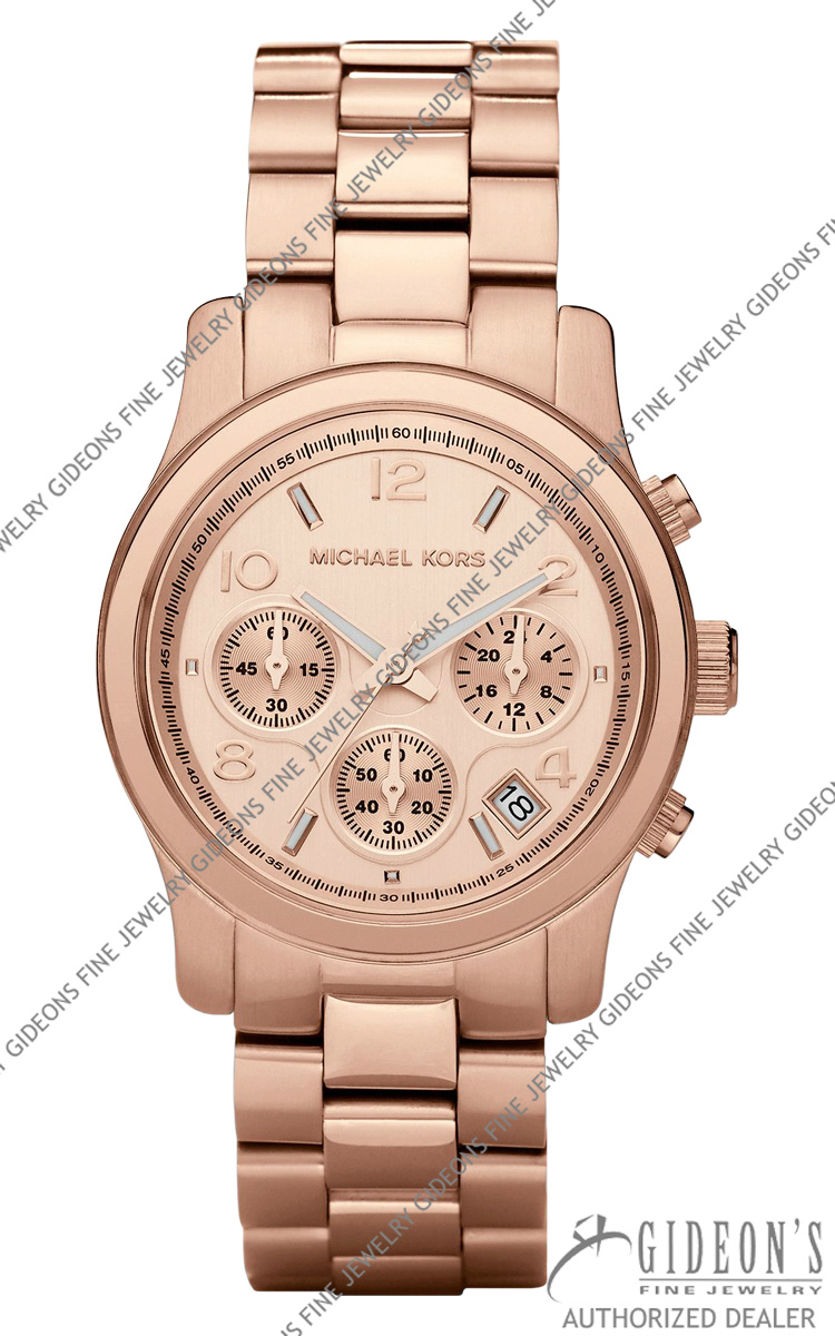 Michael Kors Rose Golden Midsize Chronograph Quartz MK5128 MKF10_Y08A0