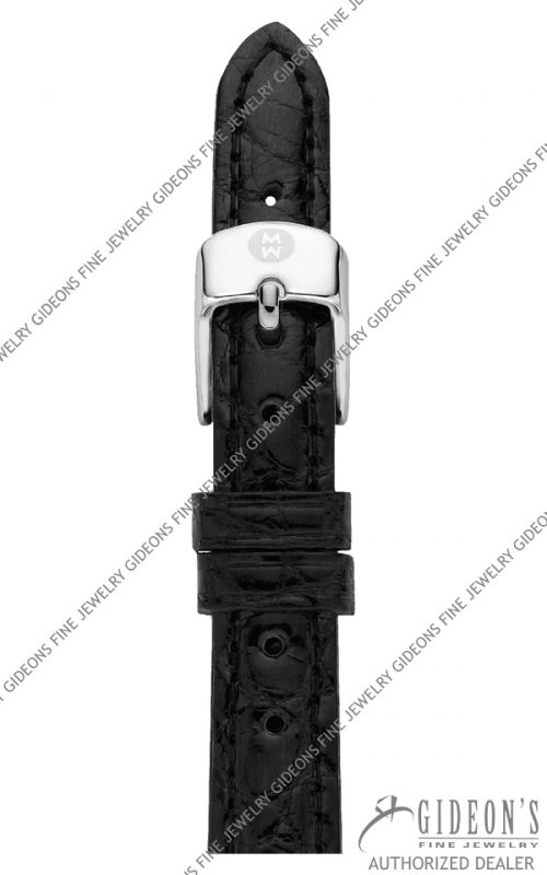 Michele Black Alligator Strap MS12AA010001 12 mm