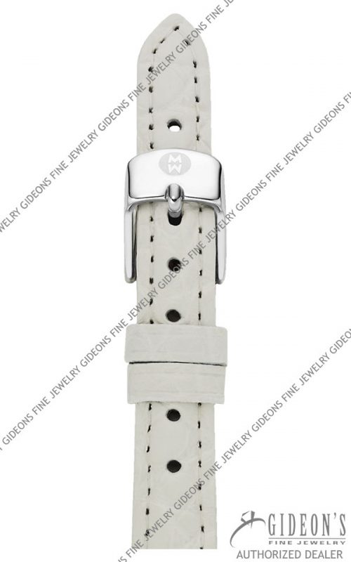 Michele White Alligator Strap MS12AA010100 12 mm