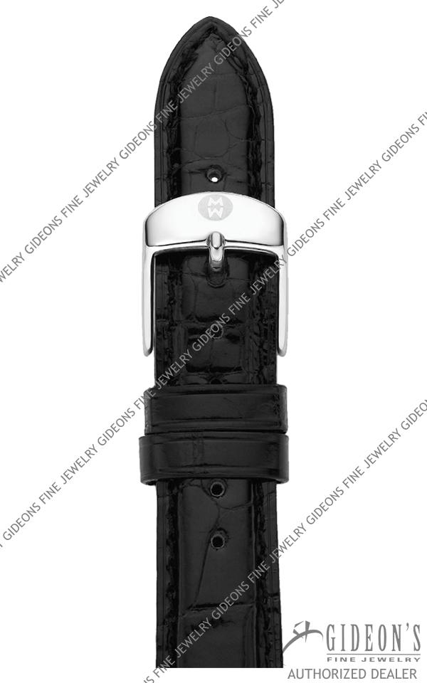 Michele Black Alligator Strap MS16AA010001 16 mm
