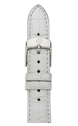 Michele Silver Alligator Strap MS16AA010040 16 mm