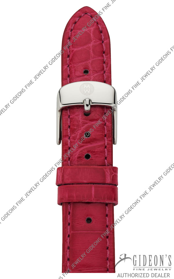 Michele Hot Pink Alligator Strap MS16AA010694 16 mm