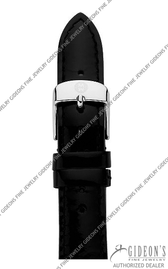Michele Black Patent Leather Strap MS16AA050001 16 mm