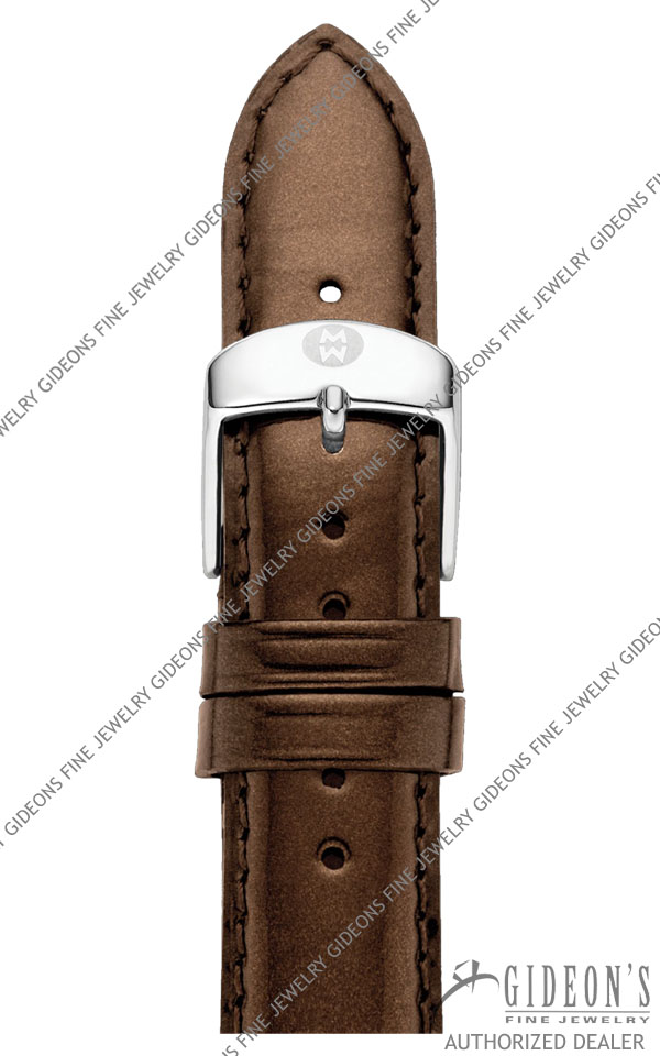 Michele Espresso Patent Leather Strap MS16AA050206 16 mm