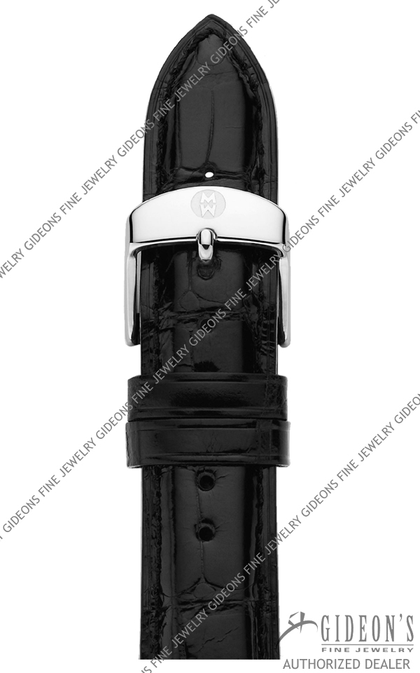 Michele Black Alligator Strap MS18AA010001 18 mm