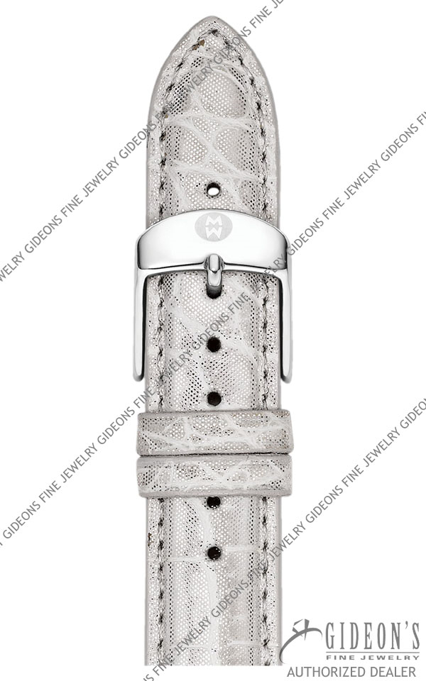 Michele Silver Alligator Strap MS18AA010040 18 mm