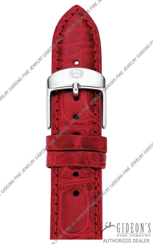 Michele Garnet Alligator Strap MS18AA010611 18 mm