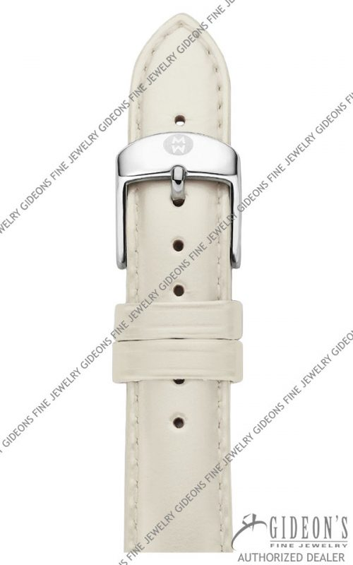 Michele Silver Patent Leather Strap MS18AA050040 18 mm