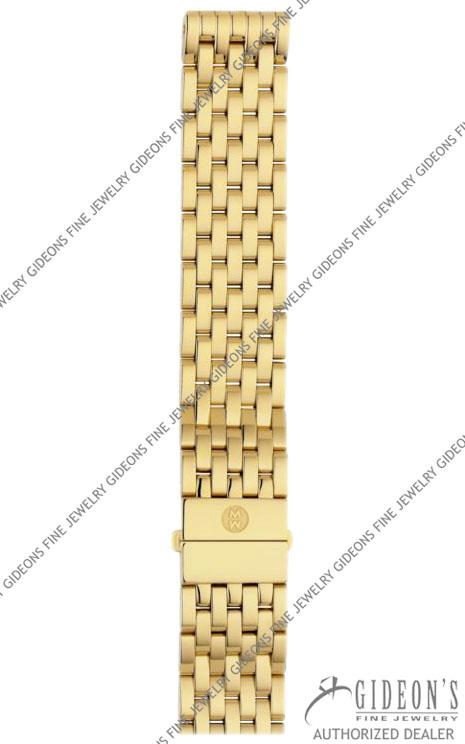 Michele Deco Gold Plated Bracelet MS18AU246710 18 mm