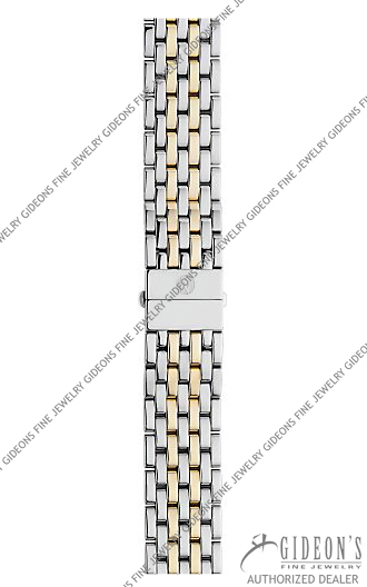 Michele Deco Gold Plated Stainless Steel Bracelet MS18AU285048 18 mm