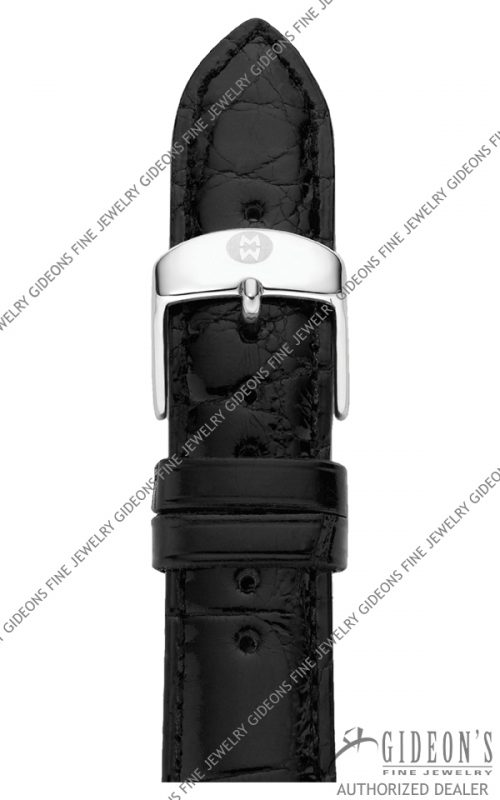 Michele Black Alligator Strap MS20AB010001 20 mm