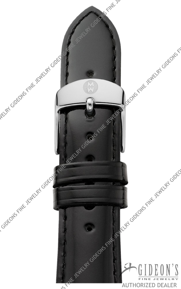 Michele Black Patent Leather Strap MS20AB050001 20 mm