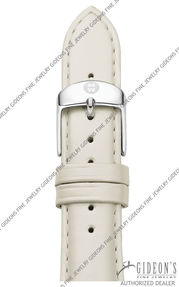Michele Silver Patent Leather Strap MS20AB050040 20 mm