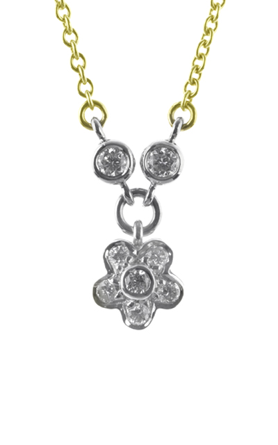 Gideon's Exclusive 14K White Gold Flower Diamond Pendant