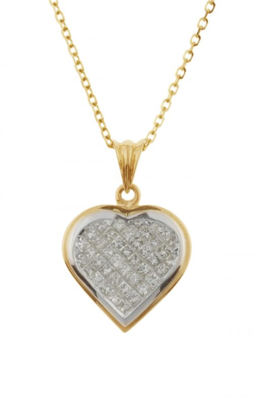 Gideon's Exclusive 18K White & Yellow Gold Diamond Heart Pendant