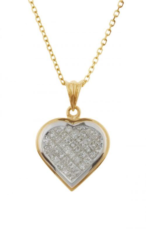Gideon's Exclusive 18K White & Yellow Gold Diamond Heart Pendant
