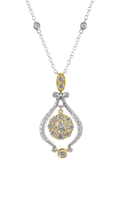 Gideon's Exclusive 18K White & Yellow Gold Vintage Pendant
