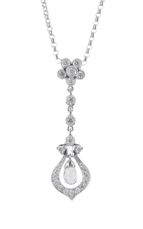 Gideon's Exclusive 18K White Gold Vintage Pendant