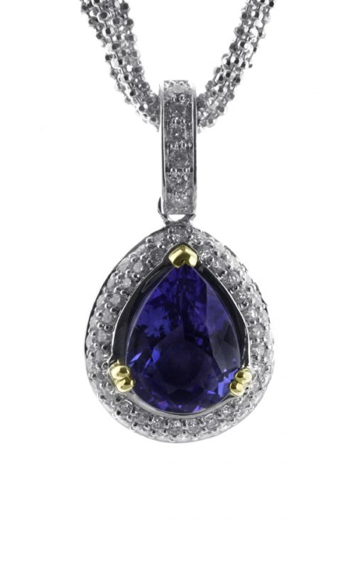 Gideon's Exclusive 18K White Gold Tanzanite Teardrop Pendant