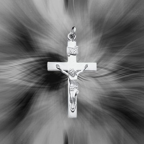 Quality Sterling Silver Reversible Crucifix Pendant QC3382