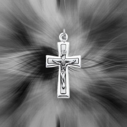Quality Sterling Silver INRI Crucifix Pendant QC3383