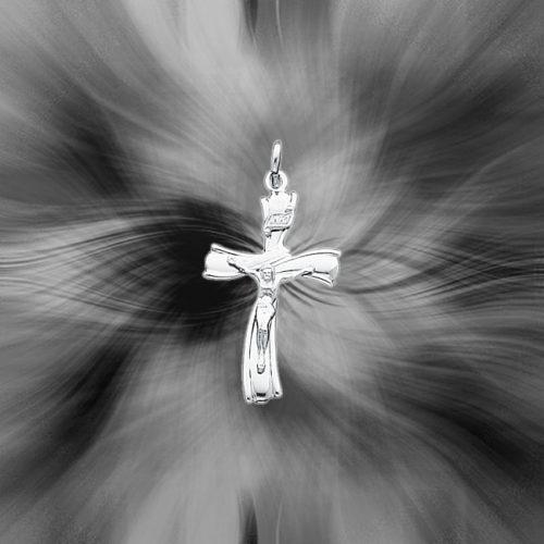 Quality Sterling Silver INRI Crucifix Pendant QC3384