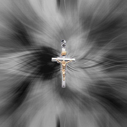 Quality  Sterling Silver INRI Crucifix Charm QC3385