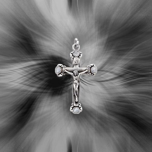 Quality Sterling Silver Antiqued Crucifix Pendant QC3401