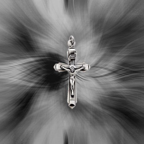 Quality Sterling Silver Antiqued Crucifix Pendant QC3402