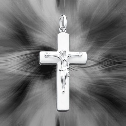 Quality Sterling Silver Crucifix Pendant QC405