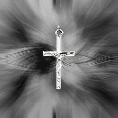 Quality Sterling Silver Crucifix Pendant QC5429