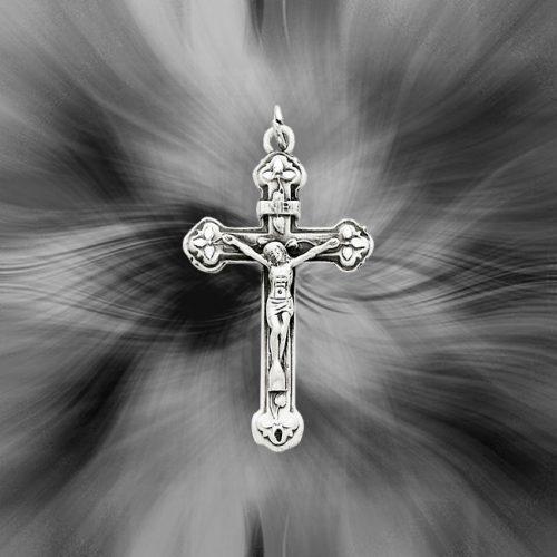 Quality Sterling Silver Antiqued INRI Crucifix Pendant QC5439