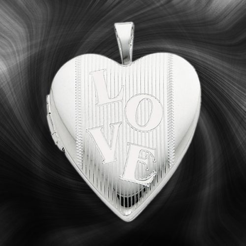 Quality Sterling Silver Heart Lockets (Love Design) QLS236