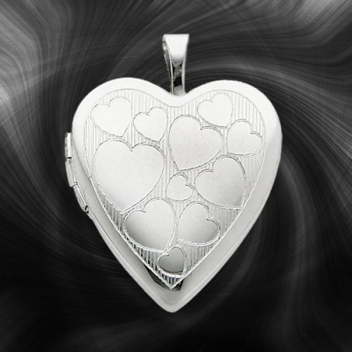 Quality Sterling Silver Heart Lockets (Floating Hearts) QLS237