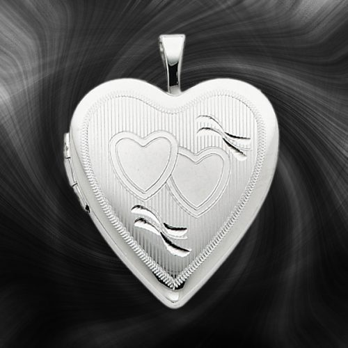 Quality Sterling Silver Heart Lockets (Double Hearts) QLS244