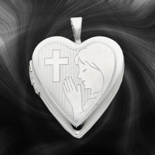 Quality Sterling Silver Heart Lockets (Girls Communion) QLS248