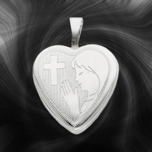 Quality Sterling Silver Heart Lockets (Girls Communion) QLS261