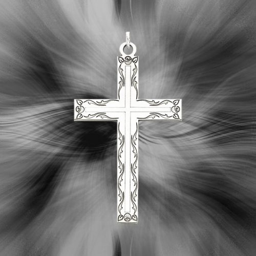 Quality Sterling Silver Laser Designed Cross Pendant QXR100