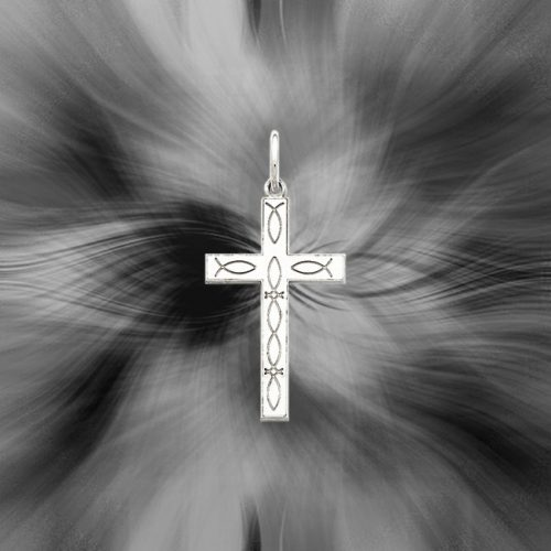 Quality Sterling Silver Laser Designed Cross Pendant QXR141