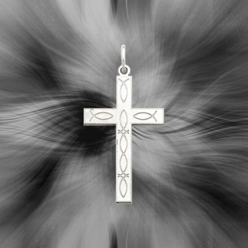 Quality Sterling Silver Laser Designed Cross Pendant QXR142
