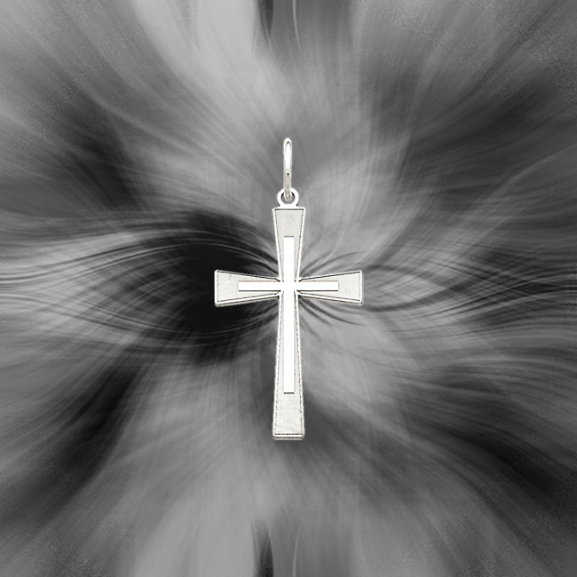 Quality Sterling Silver Laser Designed Cross Pendant QXR150
