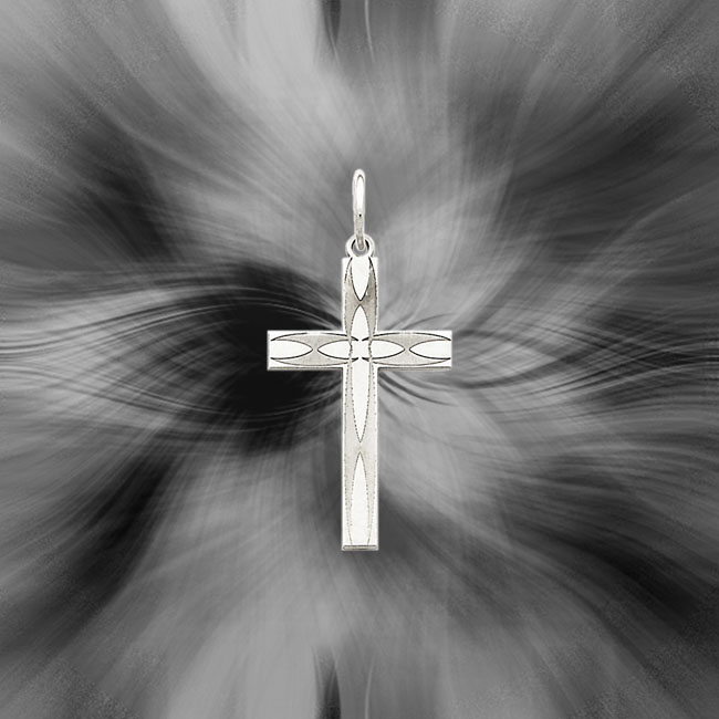 Quality Sterling Silver Laser Designed Cross Pendant QXR156